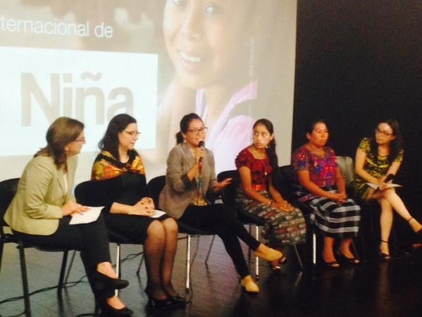 GOJoven Guatemala Advocacy Coordinator and CAMY Fund leader, Ingrid Galvez, speaks to the audience from the panel