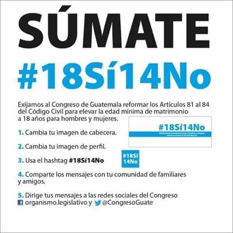 Information circulating in social media about changing Guatemala's civil code.