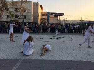 Street performance by Colectiva Amorales